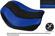 Desgn 2 Black R Blue Vinyl Custom For Harley Night Vrod Special Front Seat Cover