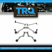 Trq 6 Pc Suspension Kit Front Forward And Rearward Control Arms W/ Sway Bar Links