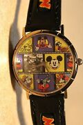 Disney Mens Vintage Mickey Mouse Watch Many Faces Of Mickey Mouse-vhtf-new