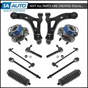 12 Piece Steering And Suspension Kit Wheel Bearings Control Arms Tie Rods End Link