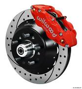 Wilwood 64-72 Chevelle A-body Front Disc Big Brake Kit 14 Drilled Rotor Red