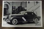 12 By 18 Black And White Picture 1937 Cord Westchester 4 Door Ocw