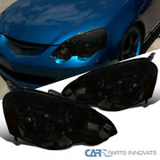 For 02-04 Acura Rsx Dc5 Smoke Headlights Replacement Head Lamps Left+right Pair