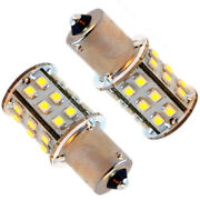 2x Hqrp Ba15s 30-smd Led Bulb Warm White For 93 1141 1156 Forest River Trailer