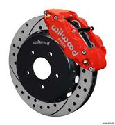 Wilwood 04-06 Gto Front Disc Big Brake Kit 13.06 Drilled Rotor Red Caliper