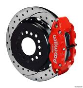 Wilwood Rear Disc Big Brake Kit Ford Small Bearing W/ 2.50 Offset Drilled Red