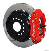 Wilwood Rear Disc Brake Kit Ford 9 Big New Style W/ 2.50 Offset Plain 14 Red