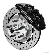 Wilwood 64-72 Chevelle A-body Front Disc Brake Kit 12 Drilled Rotor Black