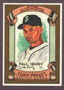 Raul Ibanez Mariners Rare Dick Perez Sketch Art 2007 Topps Allen And Ginter