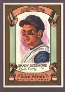 Grady Sizemore Indians Rare Dick Perez Sketch Art 2007 Topps Allen And Ginter