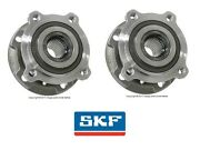 For Bmw E70 F15 X6 Pair Set Of 2 Front Axle Bearings And Wheel Hub Assembly Skf
