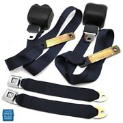 1978-1988 Gm G Body Cars Factory Style Front Bucket Seat Belts Pair Navy Blue