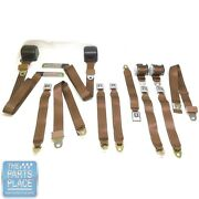 1978-88 Gm G Body Cars Factory Style Front Bucket And Rear Seat Belts - Tan