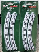 Lot Of 2 - N Scale Kato Unitrack 20-110 Curved Track R11-45 4 Pieces Per Pack