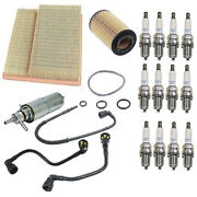 For Mercedes W163 Ml320 Tune Up Kit Air Fuel Oil Filters Line Spark Plugs