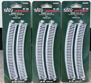 Lot Of 3 - N Scale Kato Unitrack 20-130 Curved Track R348-30 4 Pieces Per Pack