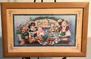 Homco Home Interiors Picture 22 X 14 Barbara Mock Bears God Bless Our Home Vgc