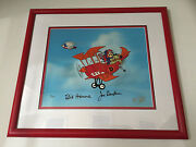 Dastardly And Muttley Cel Signed By Bill Hanna And Joe Barbera Ltd Edn Uacc Rd