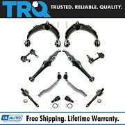 Trq 12 Pc Steering And Suspension Kit Control Arms Ball Joints Tie Rods End Links