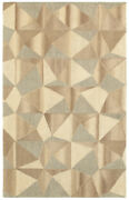 Sphinx Beige Contemporary Mosaic Shaded Triangles Area Rug Geometric 67004