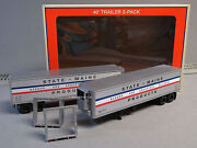 Lionel Bar State Of Maine 40' Trailer 2 Pack O Gauge Train Freight 6-83580 New