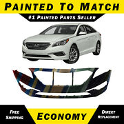New Painted To Match- Front Bumper Cover For 2015 2016 2017 Hyundai Sonata 15-17