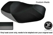 Black And Grey Vinyl Custom For Piaggio Mp3 125 250 300 400 500 Seat Cover Only