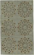 9x13 Surya Blues Circles Hand Tufted Lines Dots Area Rug Bst-428 - Aprx 9and039x13and039