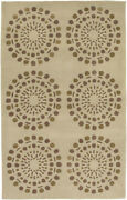 9x13 Surya Ivory Circles Hand Tufted Lines Dots Area Rug Bst-435 - Aprx 9'x13'