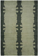 Kalaty Green Rows Curls Curves Traditional-european Area Rug Abstract Pf-341
