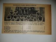 Roselle Park And Salem High School New Jersey 1928 Football Team Picture