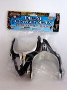 Old West Cowboy Spurs Plastic And Vinyl Western Party Halloween Costume Accessory