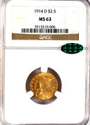 1914-d 2.50 Ms63 Ngc-cac-927 In Higher Grade