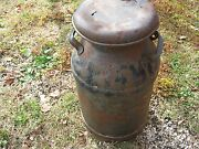 Vintage Primitive Rustic Rusty Dairy Milk Can 24 Tall Good Decor Only Lot Holes