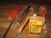 Vintage Group Advertising Garden Bug Insect Sprayers Duster Lee's Vapo-spray Can