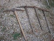 Used 4 Pc Assorted Pick Tool Garden Farm Tools Great For Decor Only