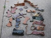 Vintage Assorted Archery Leather Gloves Hand Claws Finger Grips Wrist Grips Lot