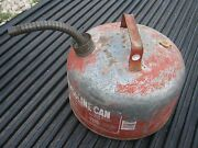 2.5 Gallons Eagle Gasoline Vintage Kerosene Oil Can Gas Can Metal Can