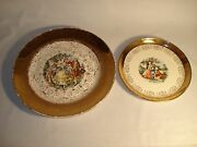 Lot Of 2 Crest-o-gold Sabin Plates 10 And 7.3 Warranted 22k Gold 2533