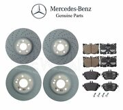For Mercedes W213 E300 Turbo 17 Front And Rear Brake Pad Sets And 2 Disc Rotors Kit