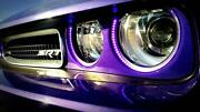 08-14 Challenger Head Lamp Light Halo Led Color Blue Tooth Nasty Ringz Bezel