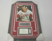 Gordie Howe Detroit Red Wings Signed Auto Index Card Framed W/11x14 Photo Sgc