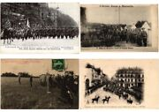 Russian Army In France Military 14 Vintage Postcards + 5 Trade Cards