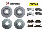For Panamera Turbo Front And Rear Steel Brake Rotors Pads Kit Zimmermann Textar