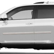 Painted Body Side Moldings With Chrome Insert For Toyota Highlander 2008-2013