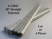 Lionel Fastrack 30 Inch Long Straight Track Lot 4 Pcs O Gauge 6-12042-4 New