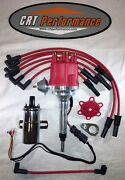 Small Cap Chevy Inline 6 Cylinder 235 Red Hei Distributor + 45k Coil + 8mm Wires