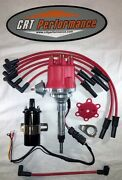 Small Cap Chevy Inline 6 Cylinder 194-235 Red Hei Distributor, 45k Coil + Wires