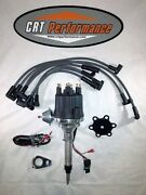 Small Cap Chevy Inline 6 Cylinder 235 Black Hei Distributor + Spark Plug Wires