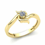 Natural 0.75ct Round Cut Diamond Bridal Solitaire Engagement Ring Solid 14k Gold